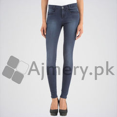 Women's Blue Solid Jeans. DTX-42