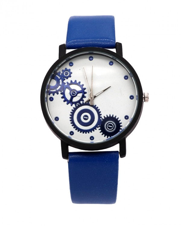 Blue Strap with white dial stylish watch
