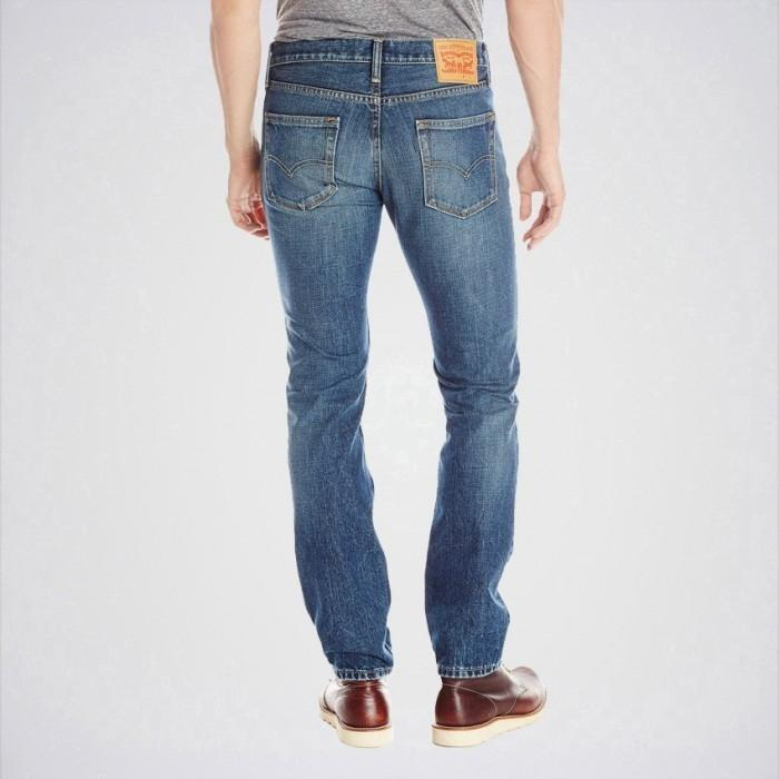 Men's Greenish Blue Slim Fit Jeans. Aj-Gb36