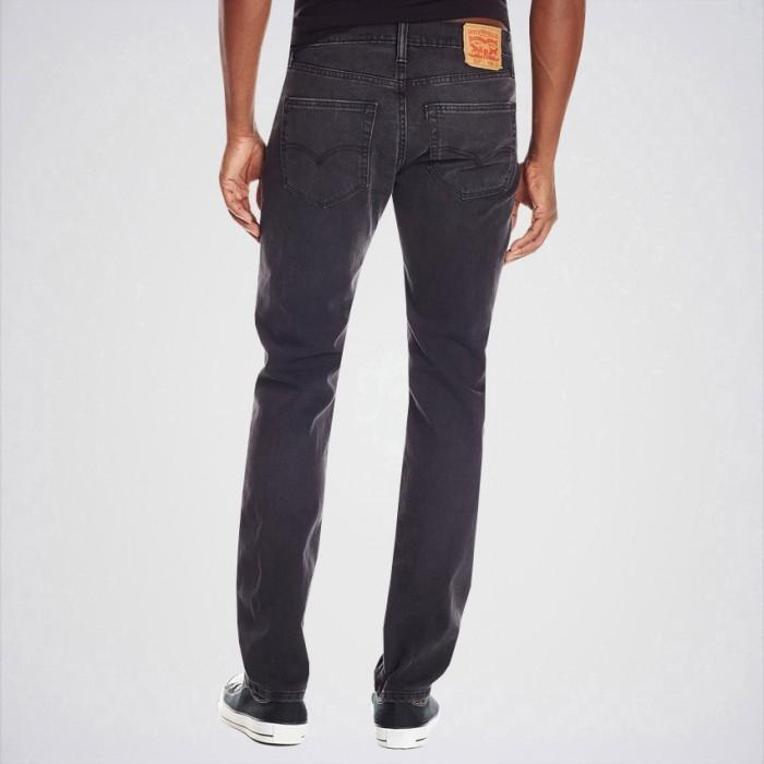 Men's Black Slim Fit Jeans Aj-Bl25