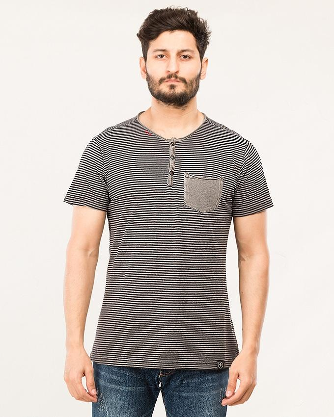 Anthra Cotton Henley  For Men-CHS18-07-S