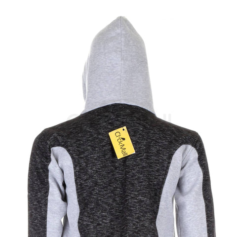 MEGA BRANDS GREY STYLISH HOODIE FOR MEN