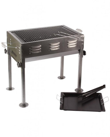 Dual Charcoal BBQ Barbecue Grill with Cooking Plate