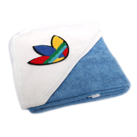 Angel Kids Hooded Single (Thin) Bath Towel For Kids (100% Cotton) 30x30 Inch  Blue