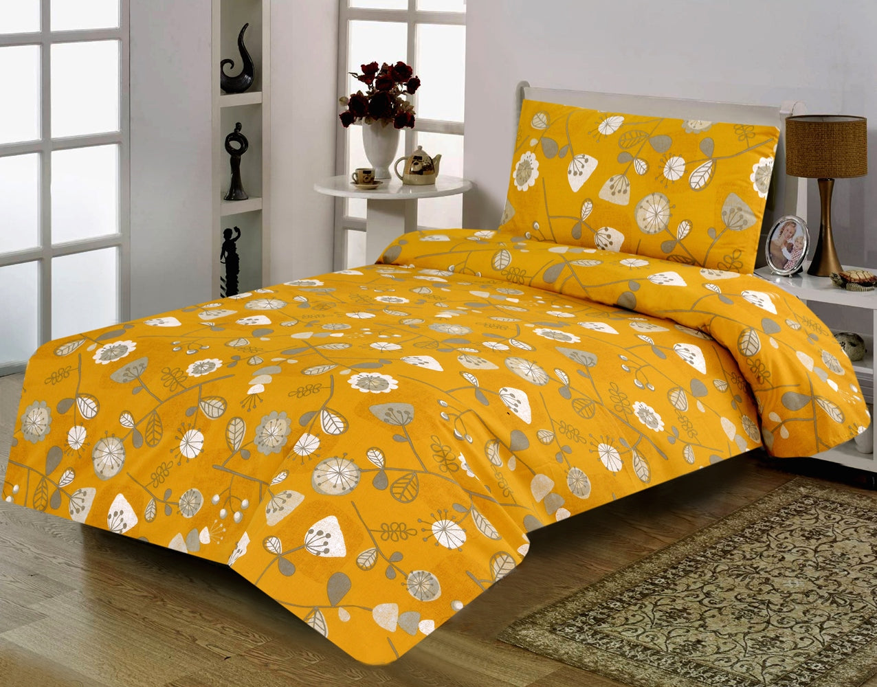 Khas Stores 2 Pcs Single Bed Sheet  R2G 16188