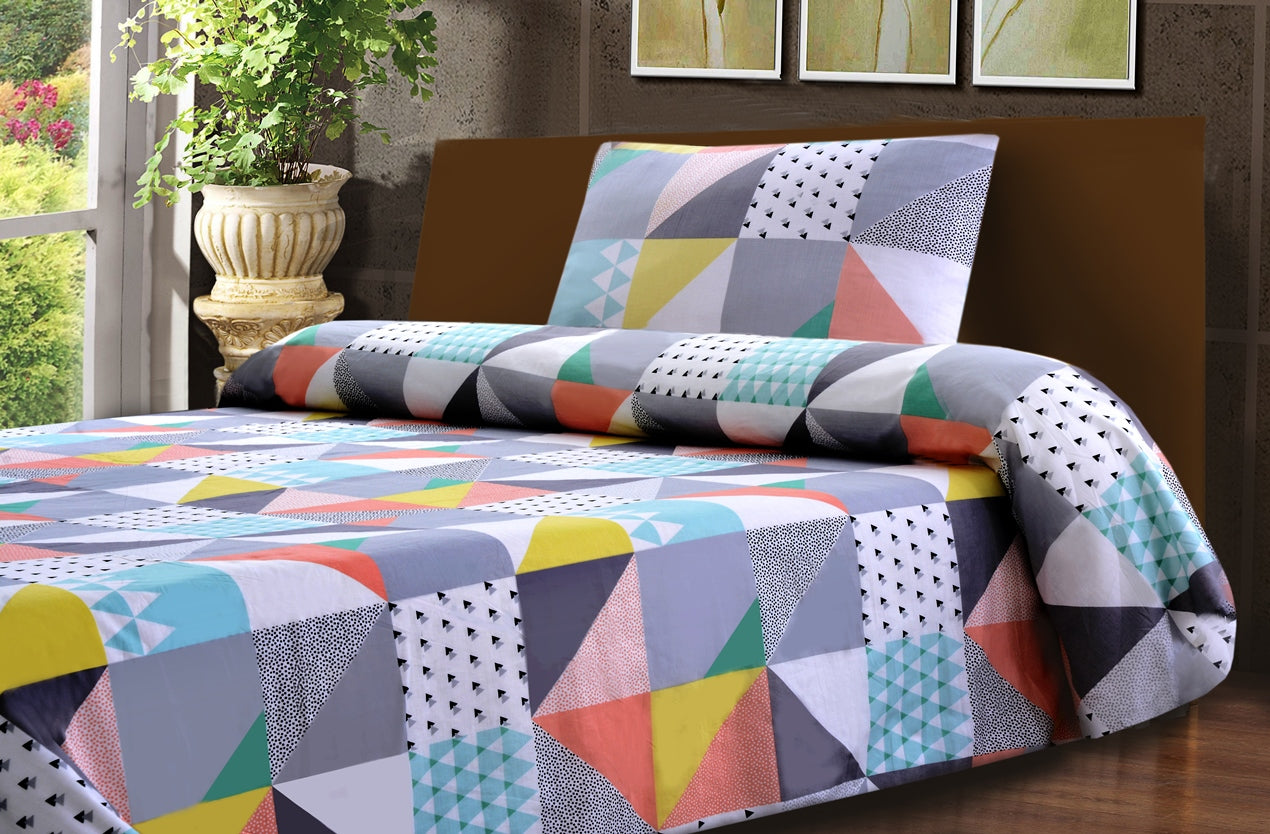 Khas Stores 2 Pcs Single Bed Sheet  R2G 16181