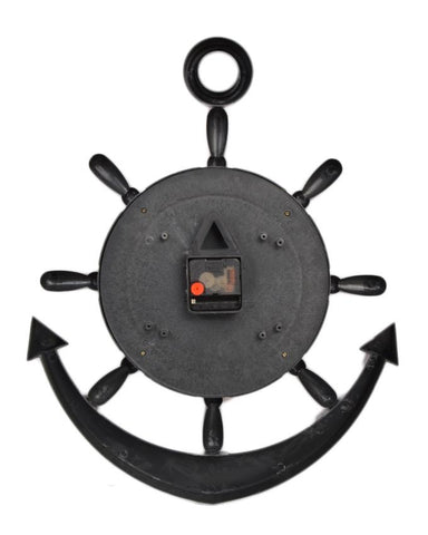 Anchor Wall Clock With White Dial - Silver - 20x15 Inches  - CL-039