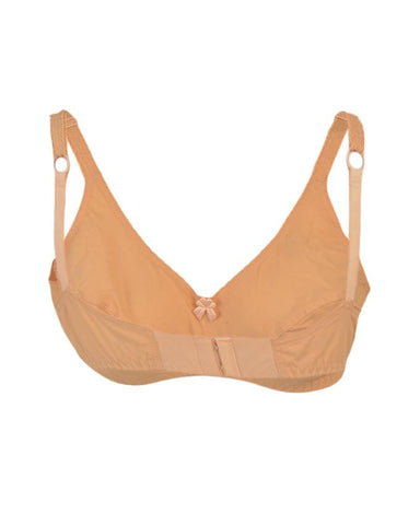 Roses Gold Swiss Lady Cotton 2 Hooks Plain Bra for Women - Skin Beige UG-460-32