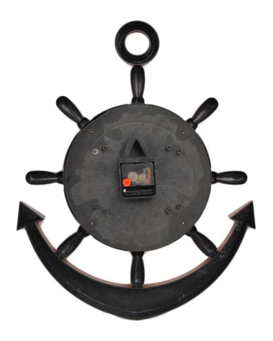 Anchor Wall Clock With White Dial - Orange - 20x15 Inches  - CL-038
