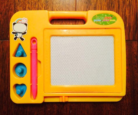 Writing And Drawing Board With Stamps And Pen Magic Slate for Kids Learning 15x20.5cm Random Color