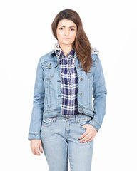 Light Blue Denim Jacket For Women