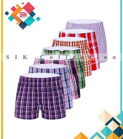 Pack of 6 – Exported Checkered Boxer Shorts For Men