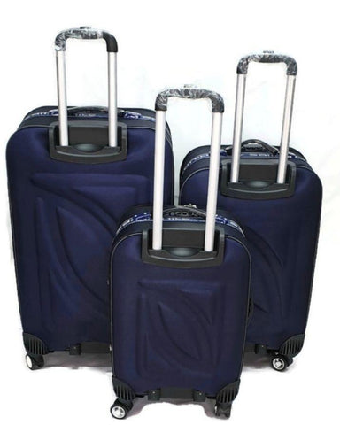 Toro . By Pakistan 3 Pcs Set 4 Wheel Spinner Troly Suitcase Set-spinner blue