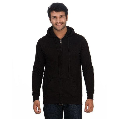 Pack Of 2 - Charcoal & Black Zipper Hoodie For Men