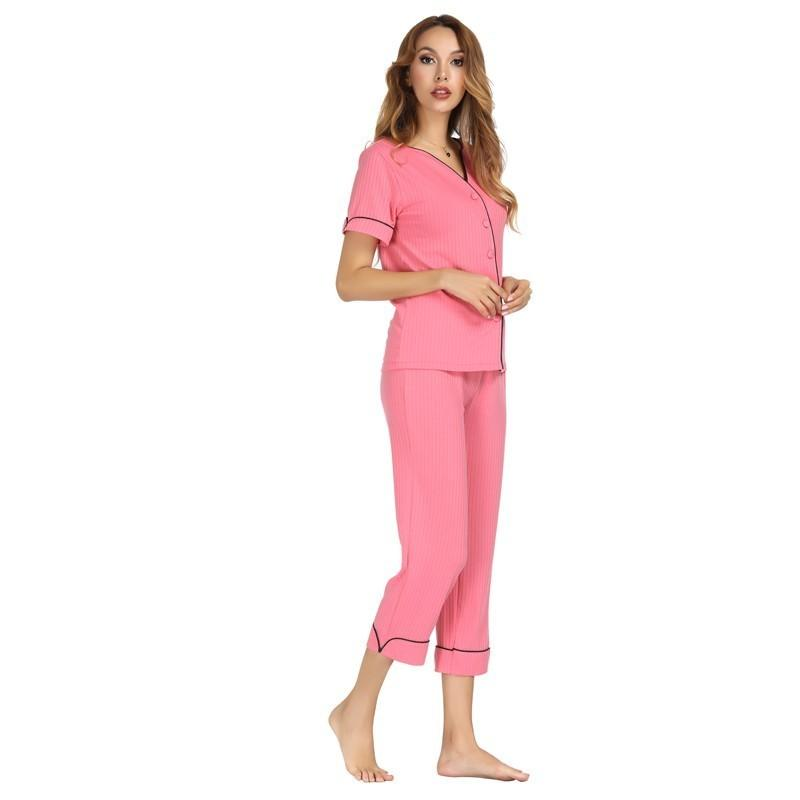 Pink Cotton Seepwear Pajama Sets For Women. SD-961