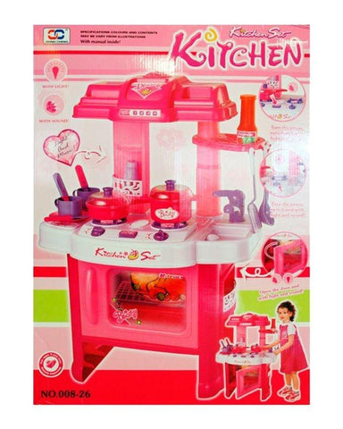 Kitchen Trolly Set - Pink
