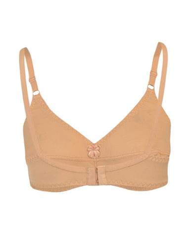 Roses Gold Jolly Jersey 2 Hooks Plain Bra for Women - Skin Beige UG-464-32