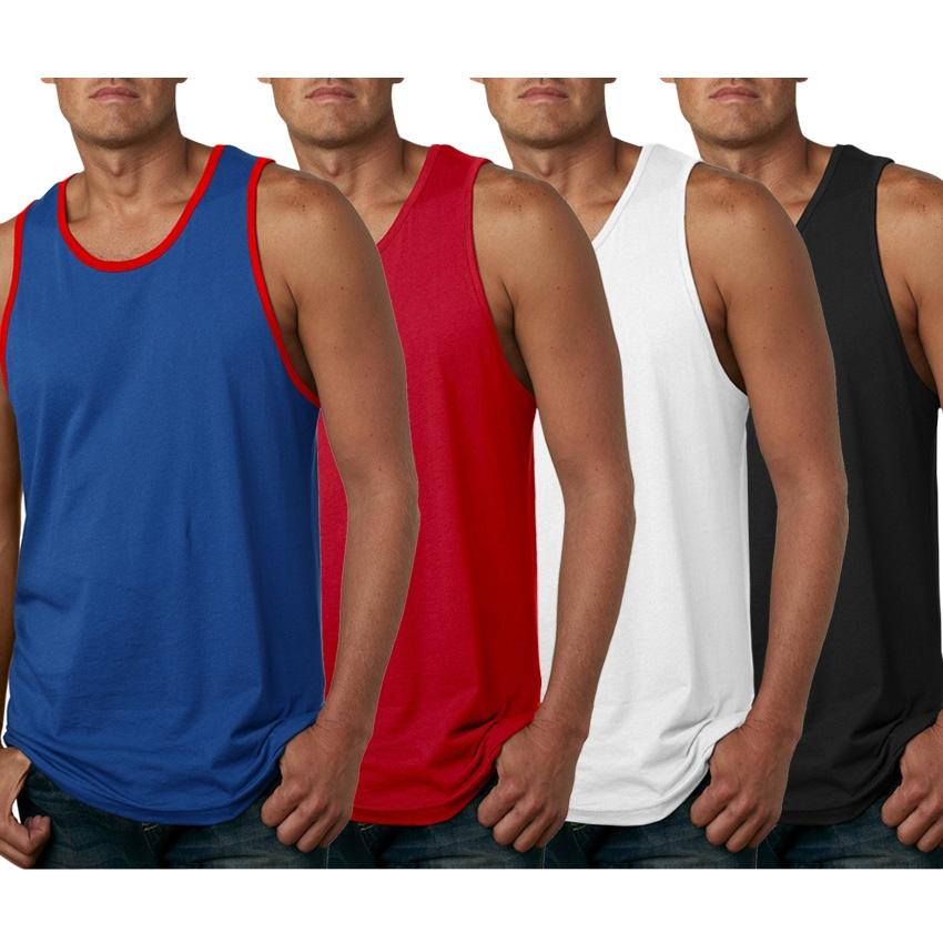 Pack Of 4 Solid Athletic 180 Gsm Gyming Tank Top For Men