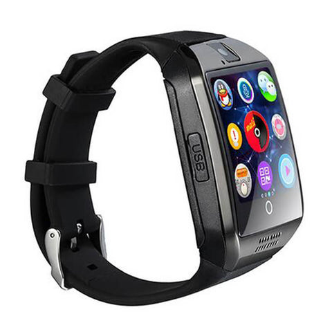 Q18 Passometer Smart Watch With Touch Screen Camera Tf Card Bluetooth Smartwatch – Black