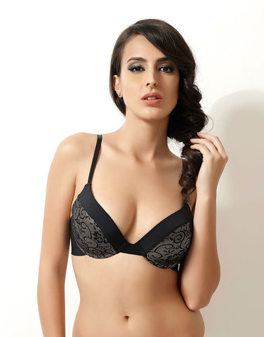 Penny Lace Embrace Level 1 Push-Up Multiway Bra With Laser Cut Wings