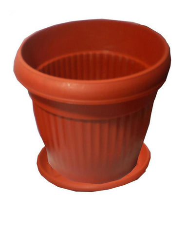 Pack of 3 Large Flower Pots With Free Base Tray - 14 x 12