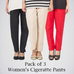 Pack Of 3 Cigarette Pants. AJ-0101