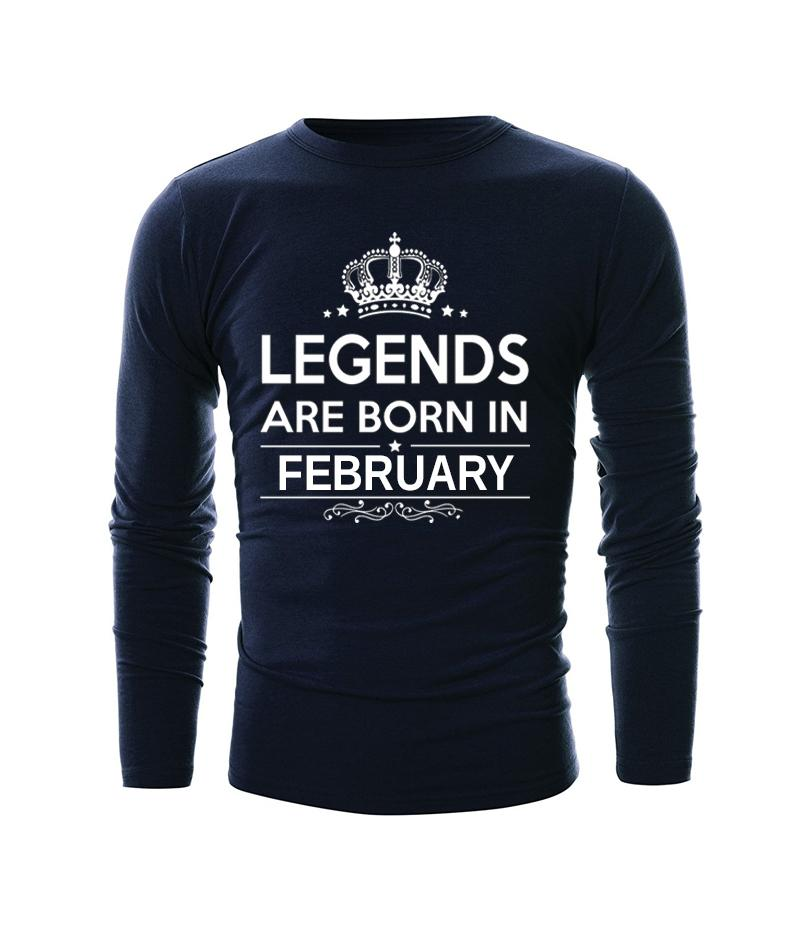 Blue Legends Are Born In February T-shirt For Men