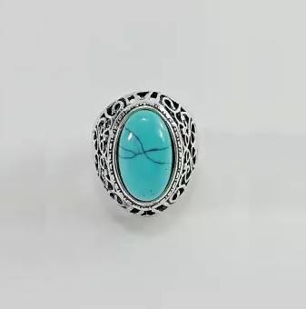 Turkish Blue Stone Ring For men