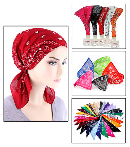 Pack of 6 -Versatile Bicycle Bandana Scarf Outdoor Cycling Face Mask  For Women