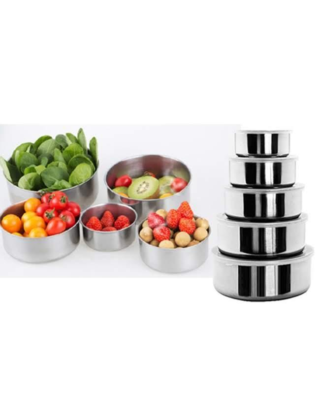 Bowls Set Stainless Steel Mixing Bowl   5 Pcs