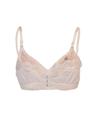 Roses Luxury Super Net Half Net Jersey 3 Hooks Plain Bra for Women - White UG-474-32