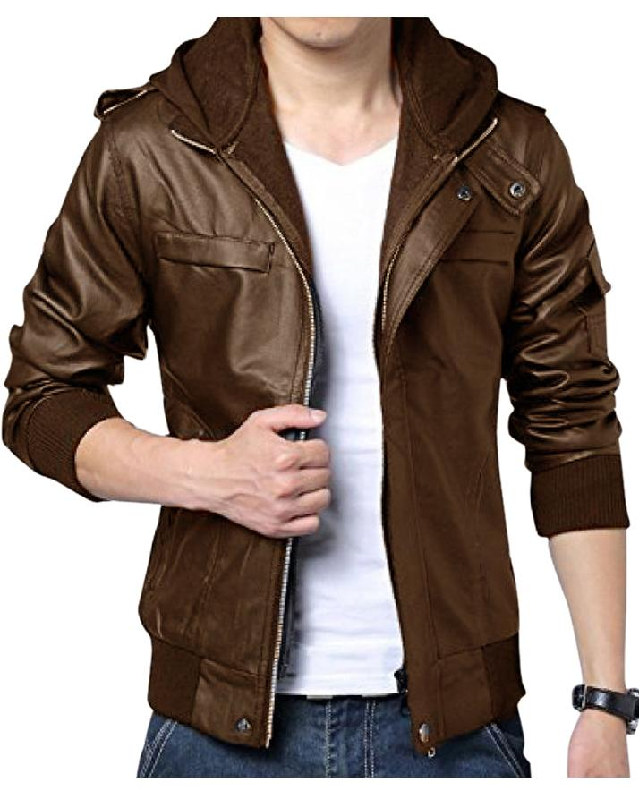 Brown Leather Jacket For Men