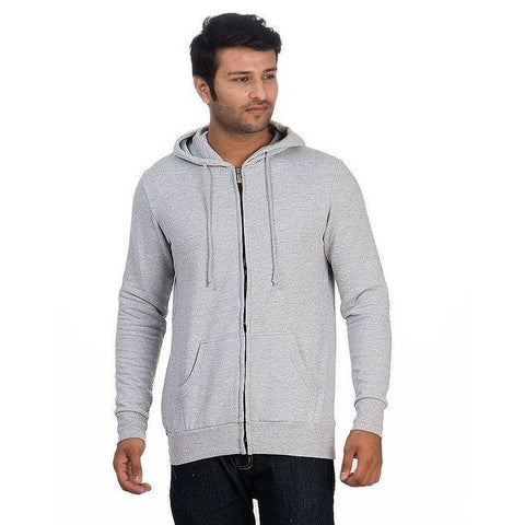 Pack Of 2 - Navy & Grey Zipper Hoodie For Men