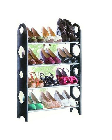 Lajawab Stockable Shoe Rack Shoe Shelf 4 Layers