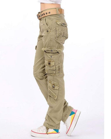 Prime Ladies Cargo Trousers Jeans Pants Gk-02