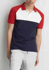 MEN'S CLASSIC CONTRAST PANEL POLO SHIRT