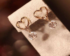 Heart Pearl Drop Earring