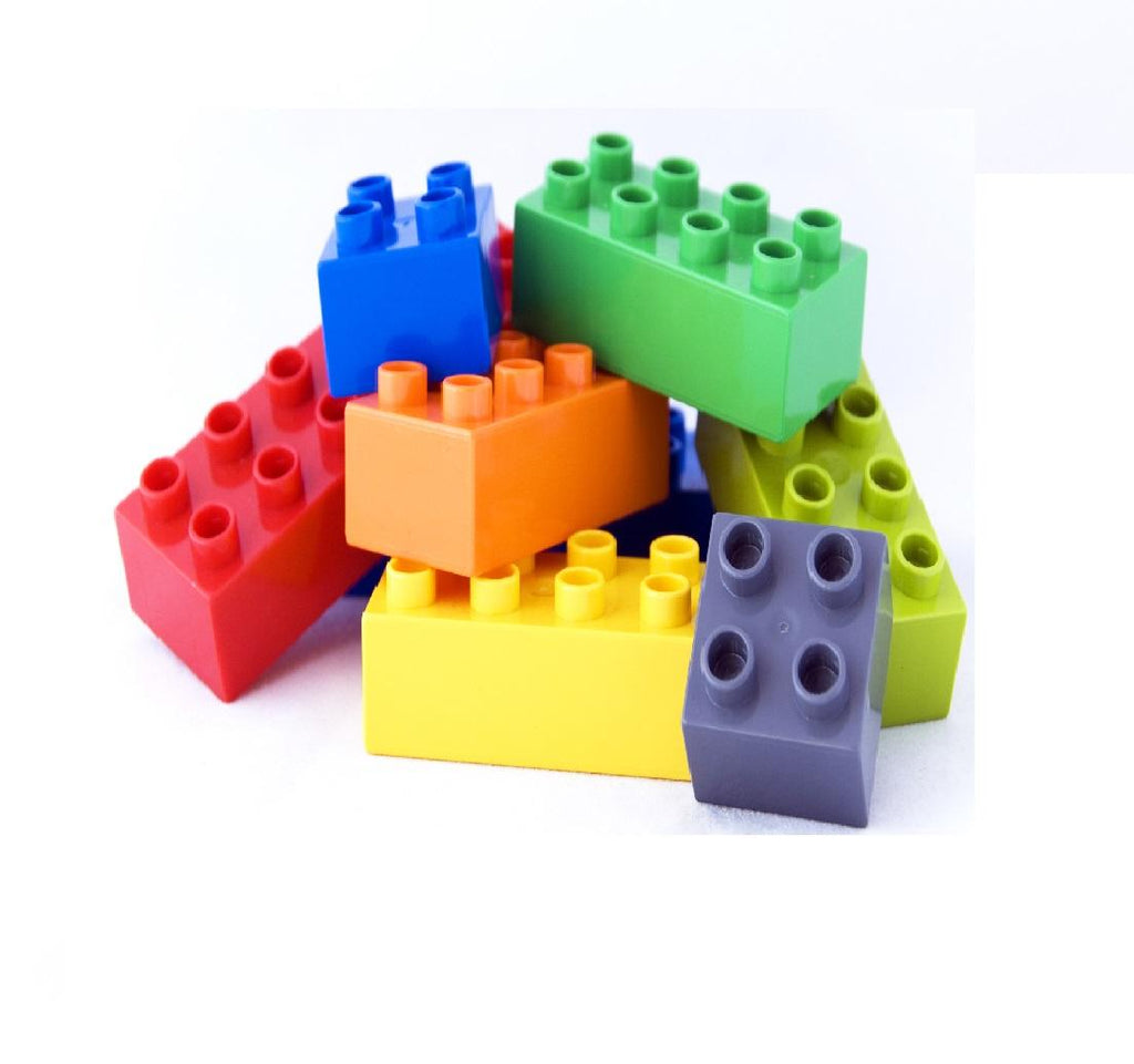 Building Blocks Learning Toy for 3 Plus Age Kids 30 Pieces Multicolor
