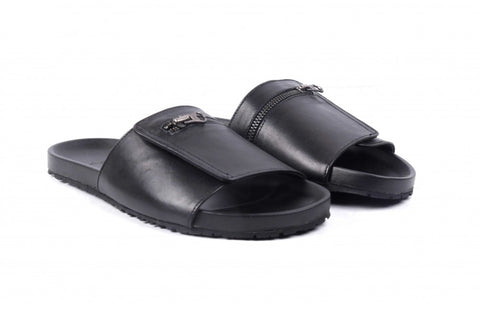 LOGO Casual Slippers Leather 5453 BKA