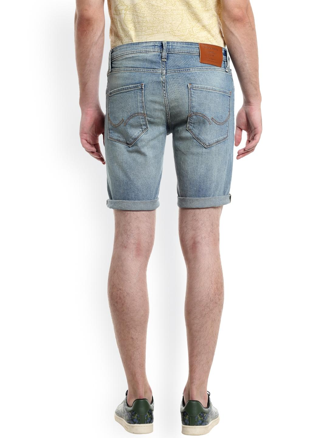 Light Blue Denim Shorts For Men