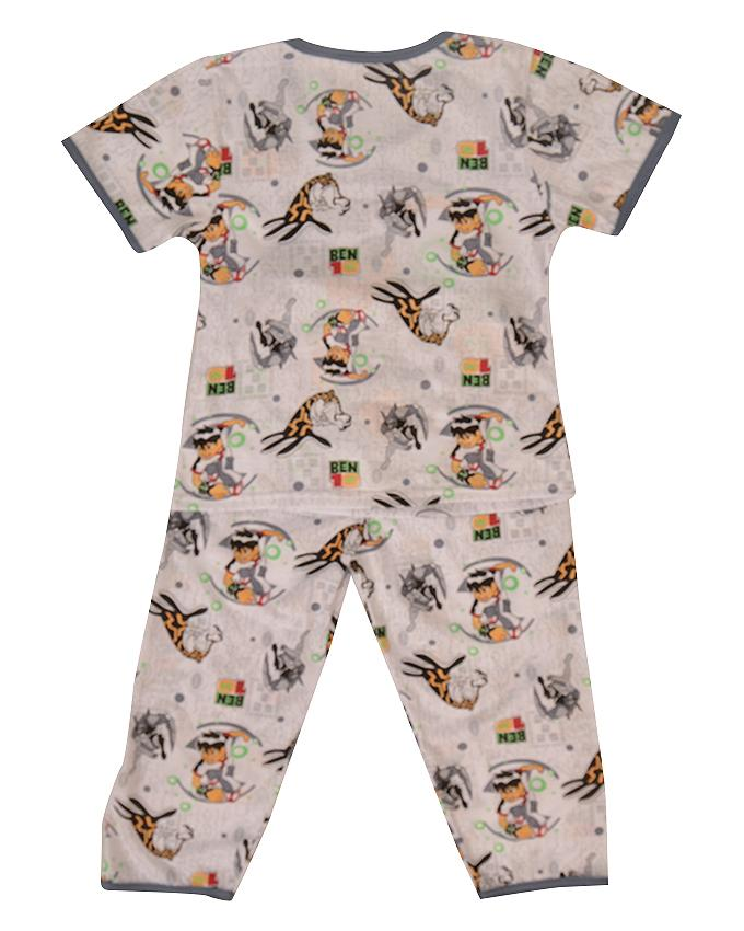 Pack of 2 Pure Cotton Night Suit (Pajama + Tshirt) for Boys - Ben Ten UG-418-6