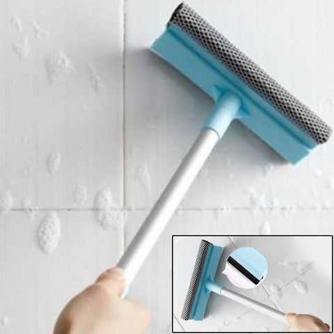 Pratik Double Sides Squeegee Extendable Window Brush Soft Sponge Cleaner Car Window Scraper Brush Home Cleaning Tools - 2466