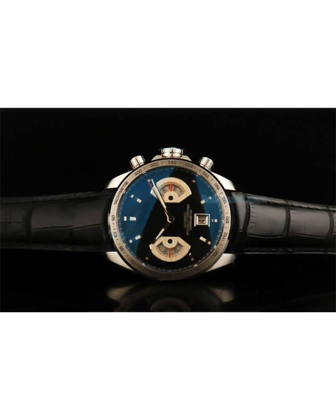 Black Leather Strap Watch For Men. WS-306