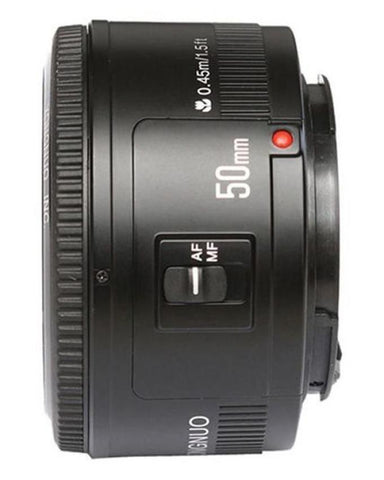 50mm f/1.8 Lens - Canon EF Mount - Black