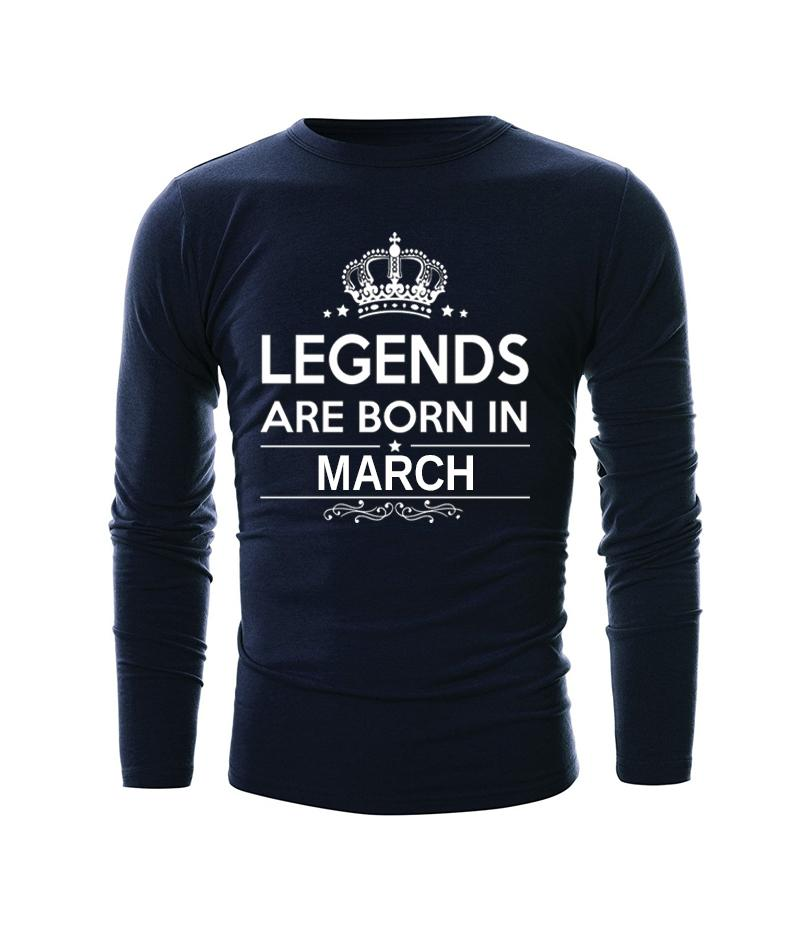 Blue Legends Are Born In March T-shirt For Men