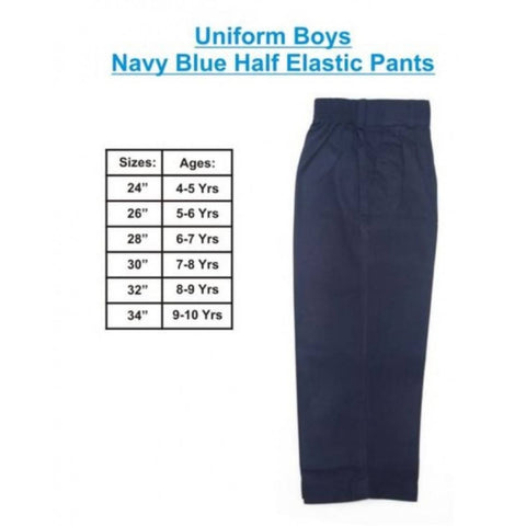 Boys School Pant Navy Blue
