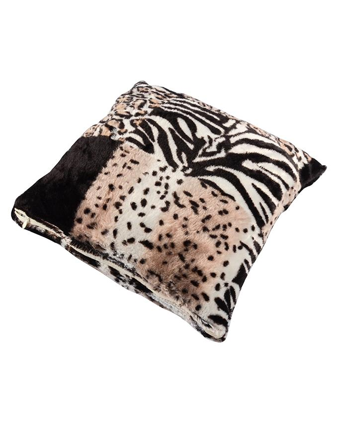 Home Decor Complements Animal Skin Pattern Tiger Cat Leopard Cow Soft Fleece Sofa Cheap Car Faux Fur Cushion and Plaid Cushions