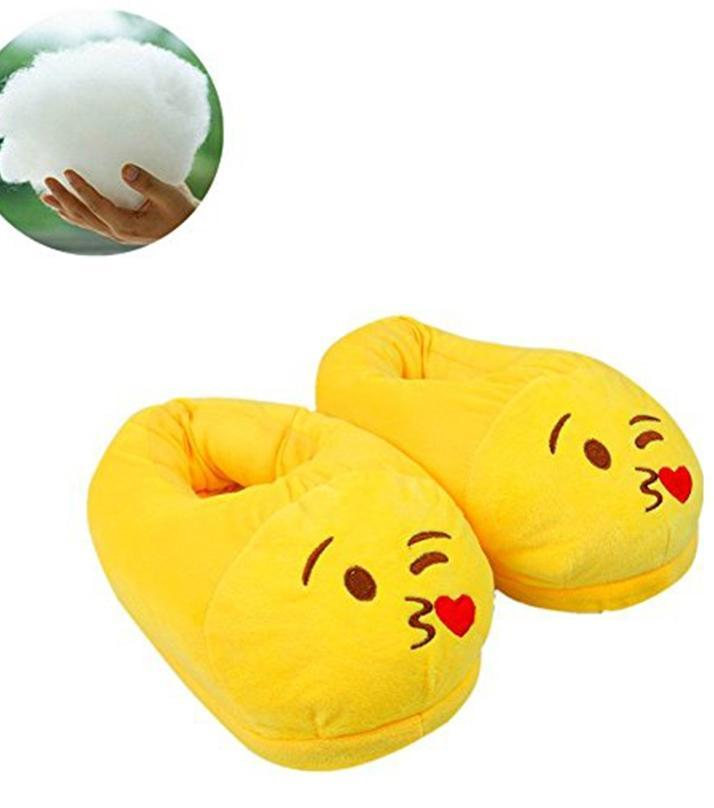 Rhizmal Emoji Plush Slippers - Kiss