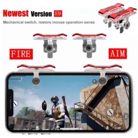 Electrogamer E9 Phone Mobile Gaming Trigger Fire Button Handle for L1R1 Shooter Controller for PUBG Rules of Survival,Last Battle Ground, Survivor Royale