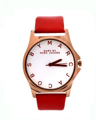 Stylish Red strap watch -mj